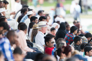 Race goers enjoy the atmosphere at Al Rayyan Racecourse on February 23, 2018 in Doha, Qatar.
