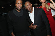 TV Personality A. J. Calloway and Director John Singleton attend the HBO Bessie 81 Tour at Stephan Weiss Studio on April 30, 2015 in New York City.