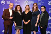 """(L-R)  John Waters, producer Julie Goldman, director Ivy Meeropol, producers Carolyn Hepburn and Chris Clements attend HBO Documentary Film """"Bully. Coward. Victim. The Story Of Roy Cohn"""" World Premiere at The New York Film Festival at Walter Reade Theater on September 29, 2019 in New York City."""