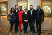 "(L-R) Seema Reza, Bobby Plagmann, April Harris, Anne Barlieb, Joe Merritt and Jeffrey Wright attend the HBO Documentary Screening Of ""We Are Not Done Yet"" at HBO Theater on November 07, 2018 in New York City."