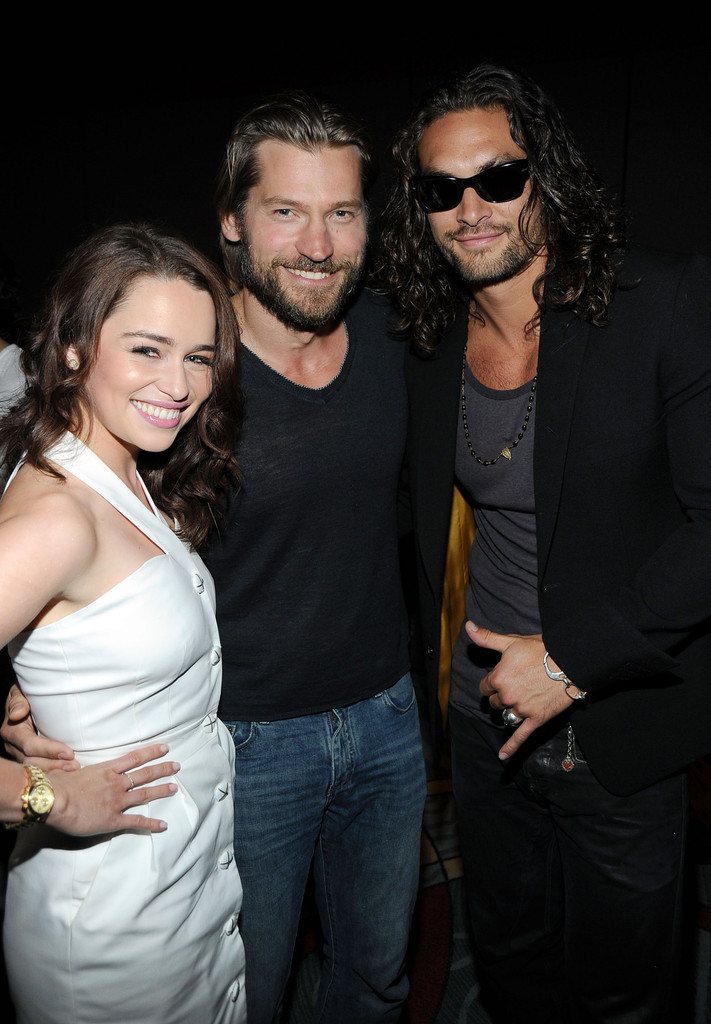 "Jason Momoa and Emilia Clarke Photos Photos - HBO's ""Game ..."