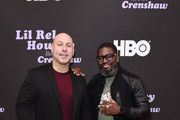 Mark Viera (L) and Lil Rel Howery attend HBO's Lil Rel Comedy Special Screening, Panel and Reception at NeueHouse Hollywood on November 21, 2019 in Los Angeles, California.