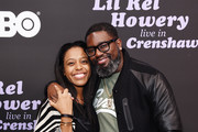 (L-R) Dominique Perry and Lil Rel Howery attend HBO's Lil Rel Comedy Special Screening, Panel and Reception at NeueHouse Hollywood on November 21, 2019 in Los Angeles, California.