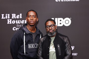 (L-R) Damson Idris (L)and Lil Rel Howery attend HBO's Lil Rel Comedy Special Screening, Panel and Reception at NeueHouse Hollywood on November 21, 2019 in Los Angeles, California.