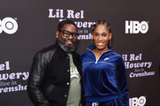(L-R) Lil Rel Howery and Kristi Castlin attend HBO's Lil Rel Comedy Special Screening, Panel and Reception at NeueHouse Hollywood on November 21, 2019 in Los Angeles, California.