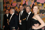 Kieran Culkin, Brian Cox, Jesse Armstrong, Alan Ruck and Sarah Snook attend HBO's Official Golden Globes After Party at Circa 55 Restaurant on January 05, 2020 in Los Angeles, California.