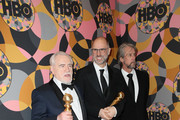 Brian Cox, Jesse Armstrong and Alan Ruck attend HBO's Official Golden Globes After Party at Circa 55 Restaurant on January 05, 2020 in Los Angeles, California.