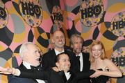 Brian Cox, Kieran Culkin, Jesse Armstrong, Alan Ruck and Sarah Snook attend HBO's Official Golden Globes After Party at Circa 55 Restaurant on January 05, 2020 in Los Angeles, California.