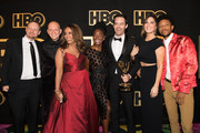 Alec Berg, Anthony Carrigan, Paula Newsome, Kirby Howell-Baptiste, Bill Hader, D'Arcy Carden and Darrell Britt-Gibson arrive at HBO's Post Emmy Awards Reception at the Plaza at the Pacific Design Center on September 17, 2018 in Los Angeles, California.