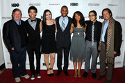 (L-R) Kirk Simon, Justice Smith, Analisa Gutierrez, Joseph Wood, Karen Goodman, Jaz Sinclair, Julian Aldana-Tejada and Paul T. Lehr attend HBO's YoungArts MasterClass: Anna Deavere Smith Screening At The Metropolitan Museum Of Art on April 7, 2014 in New York City.