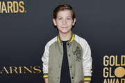 Jacob Tremblay  attends the HFPA And THR Golden Globe ambassador party at Catch LA on November 14, 2019 in West Hollywood, California.
