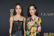 Melissa Barrera and Mishel Prada attends the HFPA And THR Golden Globe ambassador party at Catch LA on November 14, 2019 in West Hollywood, California.