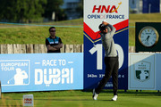 Quiros of Spain on the 10th tee during the first round of the HNA Open de France at Le Golf National on June 28, 2018 in Paris, France. (Photo by Warren Little/Getty Images).