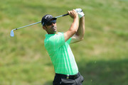 Alvaro Quiros of Spain plays his second shot on the 1st hole during day three of the HNA Open de France at Le Golf National on June 30, 2018 in Paris, France.