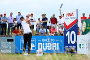 Matteo Manassero of Italy on the 10th tee during the second round of the HNA Open de France at Le Golf National on June 29, 2018 in Paris, France.