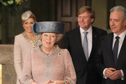Queen Beatrix of the Netherlands, Princess Maxima, Prince Willem-Alexander and Saxony Governor Stanislaw Tillich (R) arrive at the Saxony State Chancellery on April 14, 2011 in Dresden, Germany. The Dutch royals are on a four-day visit to Germany that includes stops in Berlin, Dresden and Duesseldorf.