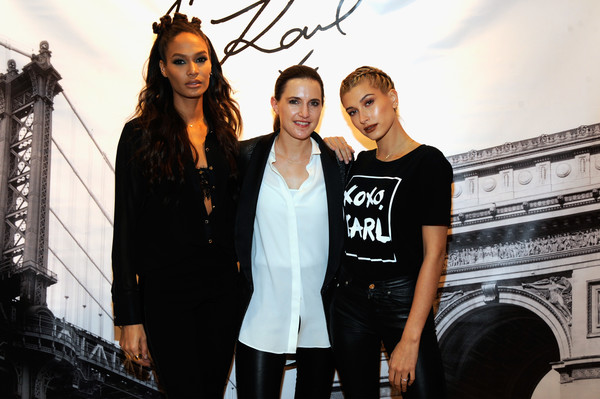 Karl Lagerfeld Paris x ELLE Event With Joan Smalls and Hailey Baldwin [fashion,beauty,black-and-white,fashion design,photography,little black dress,architecture,t-shirt,photo shoot,jeans,joan smalls,karl lagerfeld paris,hailey baldwin,r,fashion,photography,fashion design,elle,l,event,hailey rhode bieber,joan smalls,fashion,stock photography,getty images,photography,celebrity,image,model]