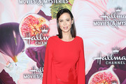 Catherine Bell arrives to the Hallmark Channel and Hallmark Movies and Mysteries Winter 2018 TCA Press Tour held at Tournament House on January 13, 2018 in Pasadena, California.