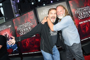 (L-R) Bill Moseley and Greg Nicotero attend Halloween Horror Nights at Universal Studios Hollywood on September 12, 2019 in Universal City, California.