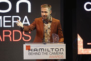 Ryan Gosling speaks onstage at the Hamilton Behind the Camera Awards presented by Los Angeles Confidential Magazine on November 4, 2018 in Los Angeles, California.