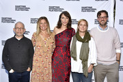 """(L-R)  Producers Bob Balaban, Amy Nauiokas, actress Dolly Wells, producer Anne Carey, and Artistic Director at Hamptons International Film Festival David Nugent attend a red carpet for """"Can You Ever Forgive Me?"""" at Guild Hall during Hamptons International Film Festival 2018 - Day Four on October 7, 2018 in East Hampton, New York."""