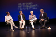 """(L-R) David Nugent, Ted Braun, Bill Ackman and Alec Baldwin attend the Hamptons International Film Festival SummerDocs Series screening of """"Betting On Zero"""" at Guild Hall on August 6, 2016 in East Hampton, New York."""