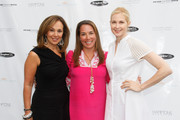 (L-R) Rosanna Scotto, Samantha Yanks and Kelly Rutherford attend Hamptons Magazine Celebration of The Children's Justice Campaign Of Joan & George Hornig on August 16, 2014 in Water Mill, New York.