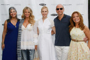 (L-R) Joan Hornig, Christie Brinkley, Kelly Rutherford, George Hornig and Patrice Lenowitz attend Hamptons Magazine Celebration of The Children's Justice Campaign Of Joan & George Hornig on August 16, 2014 in Water Mill, New York.