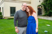 Evan Kulman and Actress Debra Messing attend the Hamptons Magazine Celebration with Debra Messing on June 13, 2019 in East Hampton, New York.