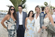 Lynn Scotti, Ralph Macchio, Phyllis Macchio, Anetta and Taylor Neisen attend the Hamptons Magazine Hosts Private Dinner To Celebrate Cover Star Liev Schreiber at Gurney's Inn on June 8, 2019 in Montauk, New York.