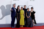 """attends the red carpet of the movie """"The Hand Of God"""" during the 78th Venice International Film Festival on September 02, 2021 in Venice, Italy."""
