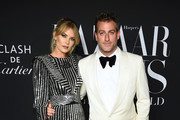 """Tori Praver and Mark Birnbaum attend as Harper's BAZAAR celebrates """"ICONS By Carine Roitfeld"""" at The Plaza Hotel presented by Cartier - Arrivals on September 06, 2019 in New York City."""
