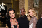 Kris Jenner, Corey Gamble, and Dee Hilfiger pose for a photo as Harper's BAZAAR's Glenda Bailey celebrates her Damehood on May 05, 2019 in New York City.