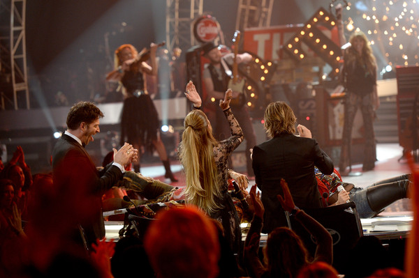 'American Idol' XIV Grand Finale - Show [american idol,performance,music,entertainment,musician,concert,performing arts,red,event,stage,musical instrument,steven tyler,jax,judges,harry connick jr.,keith urban,jennifer lopez,dolby theatre,l,american idol xiv grand finale - show]