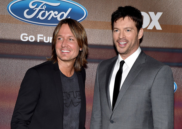 'American Idol XIV' Finalist Party [suit,event,premiere,white-collar worker,formal wear,smile,party - arrivals,keith urban,harry connick jr.,american idol xiv,california,los angeles,the district,fox,l,finalist party]