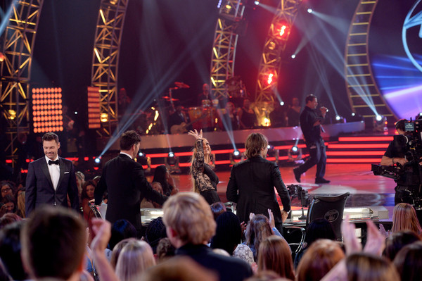 'American Idol' XIV Grand Finale - Show [performance,entertainment,music,stage,event,concert,musical instrument accessory,performing arts,musician,social group,ryan seacrest,judges,jennifer lopez,harry connick jr.,keith urban,l-r,dolby theatre,california,hollywood,american idol xiv grand finale - show]