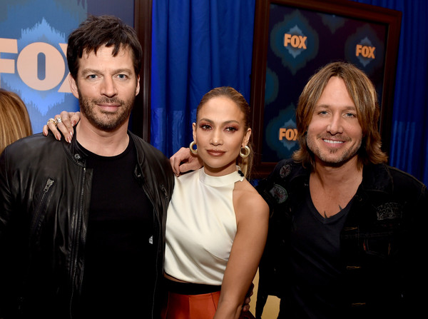 Fox All-Star Party - Inside [american idol,event,fun,performance,smile,harry connick jr.,jennifer lopez,keith urban,judges,l-r,langham huntington hotel,pasadena,california,fox all-star party - inside]