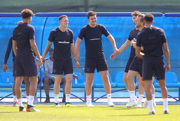 England Training Session - 2018 FIFA World Cup Russia [sports,sports training,fun,team,sport venue,championship,leisure,competition,player,recreation,players,part,russia,england,saint petersburg,spartak zelenogorsk stadium,training session,2018 fifa world cup,training session,drill]