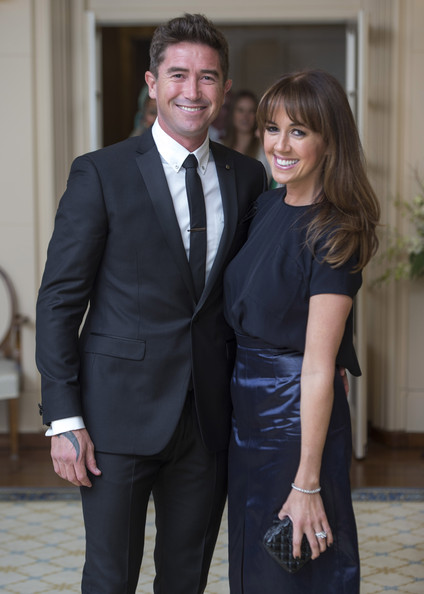 Prince William and Kate Middleton in Canberra — Part 7 [suit,formal wear,tuxedo,white-collar worker,event,outerwear,dress,businessperson,blazer,gesture,duke,george,sheree murphy,peter cosgrove,duchess,excellency,australia,cambridge,duchess of cambridge tour australia and new zealand,reception]