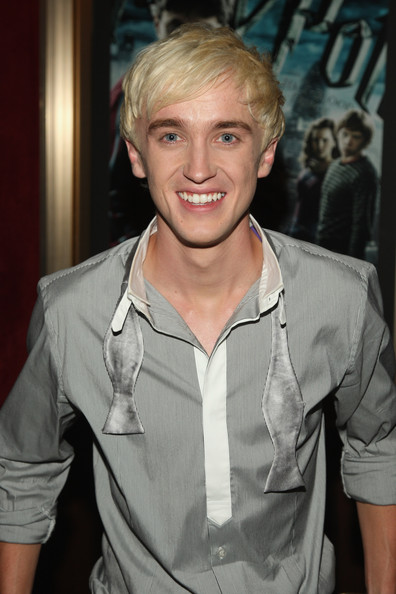 "Tom Felton Actor Tom Felton attends the ""Harry Potter and the Half-Blood Prince"" premiere at Ziegfeld Theatre on July 9, 2009 in New York City."