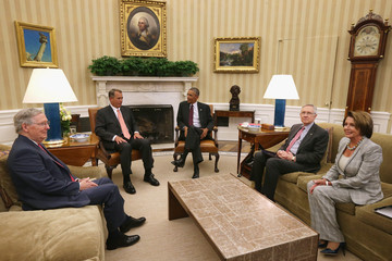 Harry Reid John Boehner President Obama Meets With Congressional Leadership At The White House
