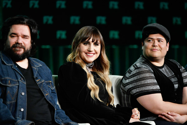 2020 Winter TCA Tour - Day 3 [what we do in the shadows,people,photography,fun,event,performance,flash photography,musical ensemble,matt berry,natasia demetriou,harvey guillen,speak,l-r,pasadena,winter tca,fx,segment,natasia demetriou,harvey guillen,what we do in the shadows,matt berry,photograph,image,fx,stock photography,livingly media]