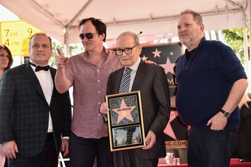 Harvey Weinstein Ennio Morricone Honored With Star on The Hollywood Walk of Fame