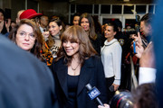 Actors Annabella Sciorra (L) and Rosie Perez walk out of the courthouse after movie mogul Harvey Weinstein was sentenced to 23 years in prison on March 11, 2020 in New York City. Weinstein was sentenced to 23 years in prison, 20 on the first-degree criminal sexual act and three years for third-degree rape, with the sentences running consecutively.