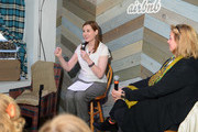 Actress Geena Davis (L) and co-founder of Impact Partners Geralyn Dreyfous speak at Haus Chat: Geena Davis On Gender In the Media on January 23, 2014 in Park City, Utah.