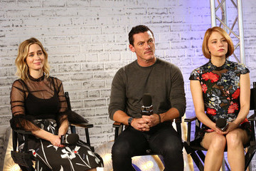 Hayley Bennett Emily Blunt Takes Part in AOL's BUILD Series LONDON