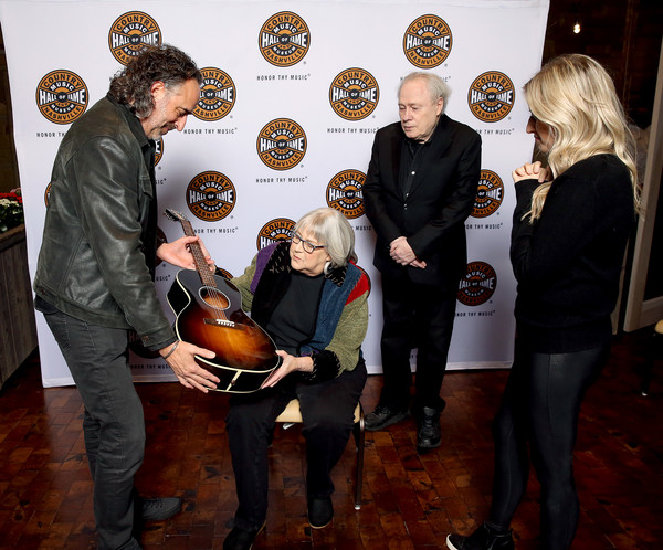 Country Music Hall of Fame and Museum Honors Bev Paul at 13th Annual Louise Scruggs Memorial Forum [event,musical instrument,string instrument,musician,music,bev paul,james jc curleigh,ceo,gary scruggs,l-r,entertainment relations,museum,country music hall of fame and museum,louise scruggs memorial forum,gibson brands inc.,country music hall of fame and museum,public relations,musician,museum,m,socialite,hall of fame,public,event]
