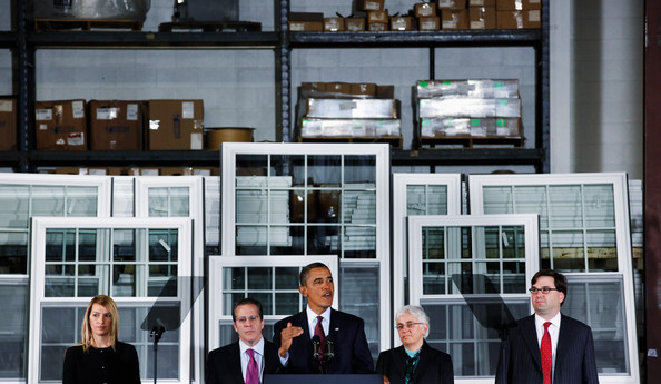 Obama Discusses Economy At Maryland Manufacturing Plant And Announces Gene Sperling As Economic Council Head