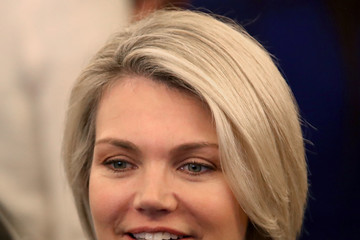 Heather Nauert President Trumps Attends Ceremonial Swearing In Held For Secretary Of State Mike Pompeo At The State Department