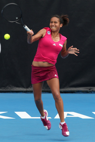 Heather watson heather watson of great britain plays a forehand during